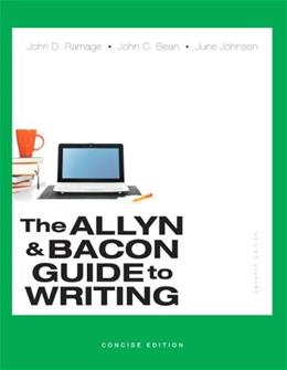 Allyn & Bacon Guide to Writing, The, Concise Edition (7th Edition) 9780321914309