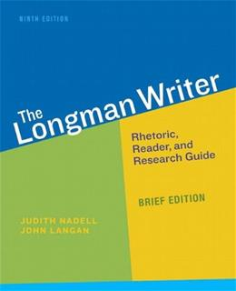 Longman Writer, The, Brief Edition (9th Edition) 9780321914330
