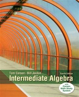 Intermediate Algebra (4th Edition) 9780321915870