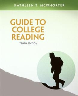 Guide to College Reading, by McWhorter, 10th Edition 9780321921451