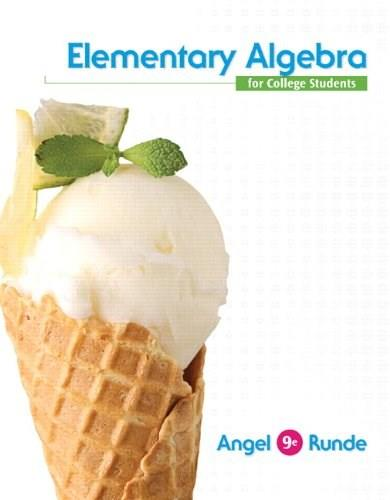 Elementary Algebra for College Students, by Angel, 9th Edition 9 PKG 9780321922632
