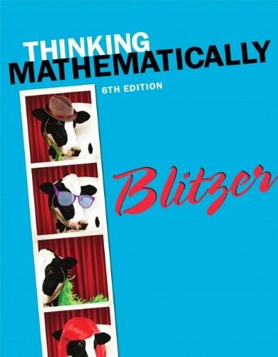 Thinking Mathematically plus NEW MyLab Math with Pearson eText -- Access Card Package (6th Edition) 6 PKG 9780321923233
