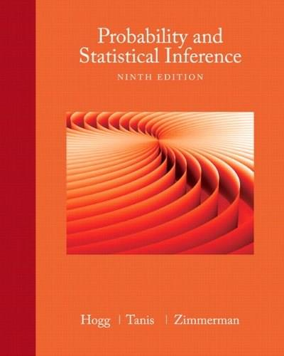 Probability and Statistical Inference (9th Edition) 9780321923271