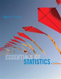 Essentials of Statistics (5th Edition) 5 w/CD 9780321924599