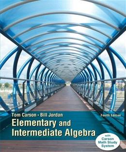 Elementary and Intermediate Algebra (4th Edition) 9780321925145
