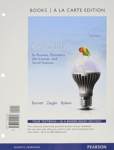 Calculus for Business, Economics, Life Sciences and Social Sciences Books a la Carte Edition Plus NEW MyMathLab with Pearson eText -- Access Card Package (13th Edition) 13 PKG 9780321925718