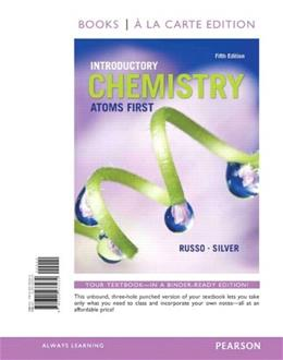 Introductory Chemistry: Atoms 1st, by Russo, 5th Edition 9780321933232