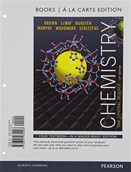 Chemistry: The Central Science, Books a la Carte Plus MasteringChemistry with eText -- Access Card Package (13th Edition) 13 PKG 9780321934826