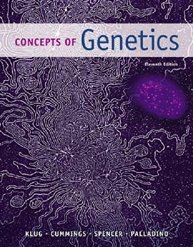Concepts of Genetics (11th Edition) 9780321948915