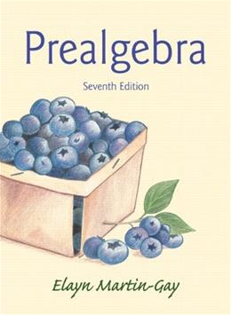 Prealgebra (7th Edition) 9780321955043