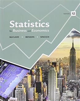 Statistics for Business and Economics, by McClave, 12th Edition, 2 BOOK SET PKG 9780321957597