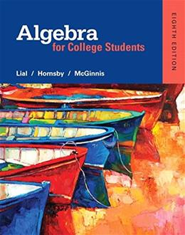 Algebra for College Students (8th Edition) 9780321969262