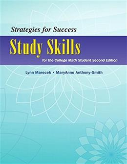 Strategies For Success: Study Skills for the College Math Student, by Marecek, 2nd Edition 9780321969880