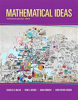 Mathematical Ideas (13th Edition) - Standalone book 9780321977076