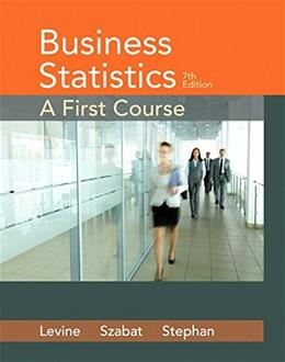 Business Statistics: A First Course (7th Edition) 9780321979018