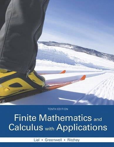 Finite Mathematics and Calculus with Applications 10 9780321979407