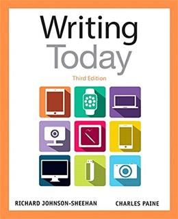 Writing Today (3rd Edition) 9780321984654