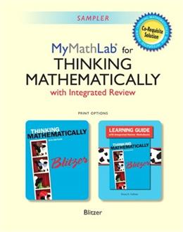 Thinking Mathematically, by Blitzer, 2nd Edition, 2 BOOK SET 2 PKG 9780321986344