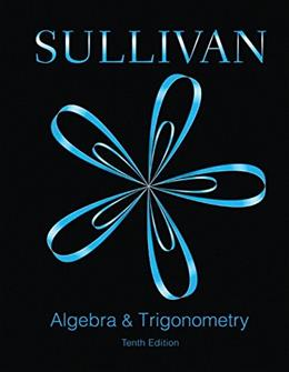 Algebra and Trigonometry (10th Edition) 9780321998590
