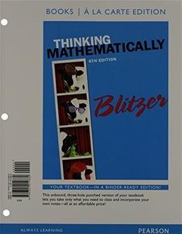 Thinking Mathematically, Books a la carte Edition plus MyLab Math with Pearson eText -- Access Card Package (6th Edition) 6 PKG 9780321999061
