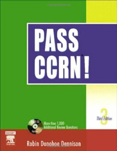 Pass CCRN!, by Dennison, 3rd Edition 3 w/CD 9780323025928