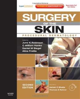Surgery of the Skin: Procedural Dermatology, by Robinson, 2nd Edition 2 PKG 9780323065757