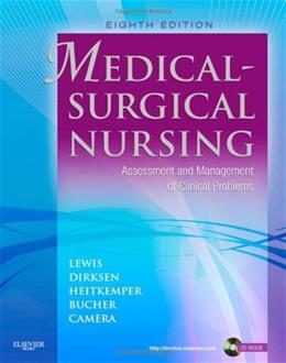 Medical Surgical Nursing: Assessment and Management of Clinical Problems, by Lewis, 8th Edition, Single Volume 8 w/CD 9780323065801