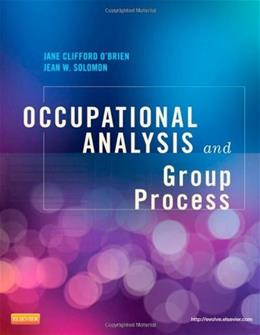 Occupational Analysis and Group Process, by O