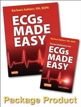 ECGs Made Easy, by Aehlert, 5th Edition, Worktext 5 PKG 9780323101066