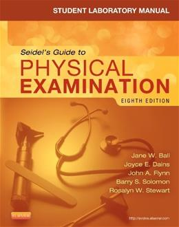 Physical Examination, by Ball, 8th Edition, Lab Manual 9780323169523