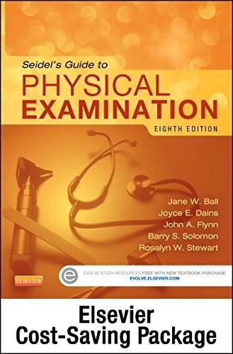 Seidels Guide to Physical Examination, by Ball, 8th Edition 8 PKG 9780323244930