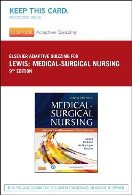 Medical-Surgical Nursing - Access - 9th edition, Access Code Only 9780323244978