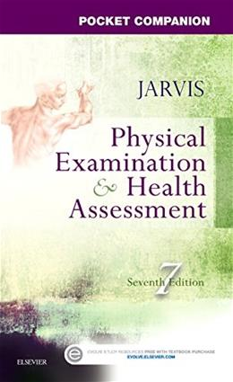 Pocket Companion for Physical Examination and Health Assessment, 7e 9780323265379