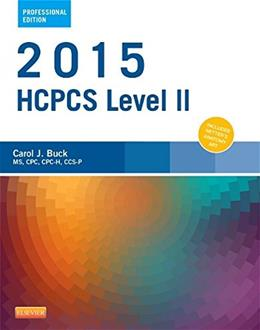 2015 HCPCS Level II Professional Edition, by Buck 9780323279864