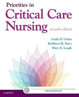 Priorities in Critical Care Nursing, by Urden, 7th Edition 9780323320856