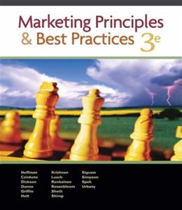 Marketing Principles and Best Practices, by Hoffman, 3rd Edition 3 PKG 9780324200447