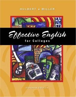 Effective English for Colleges, by Hulbert, 11th Edition 11 PKG 9780324222883