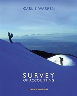 Survey of Accounting, by Warren, 3rd Edition 9780324312485