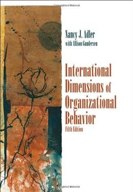 International Dimensions of Organizational Behavior 5 9780324360745