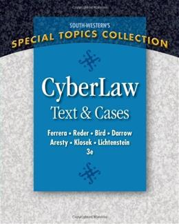 CyberLaw: Text and Cases 3 9780324399721