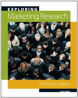 Exploring Marketing Research, by Zikmund, 10th Edition 10 PKG 9780324788440
