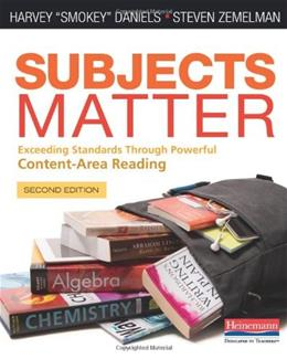 Subjects Matter, by Daniels, 2nd Edition 9780325050836