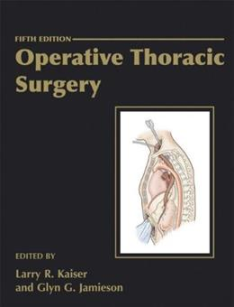 Operative Thoracic Surgery 5 9780340759738