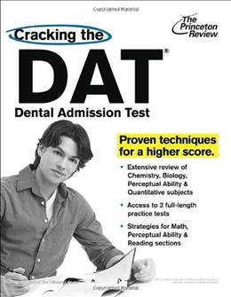 Cracking the DAT, by Princeton Review 9780375427565