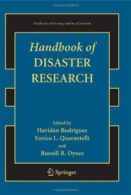 Handbook of Disaster Research, by Rodriguez 9780387739526
