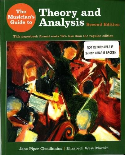 Musicians Guide to Theory and Analysis, by Clendinning, 2nd Edition 2 w/CD 9780393124118