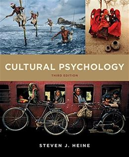 Cultural Psychology (Third Edition) 3 9780393263985