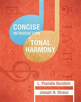 Concise Introduction to Tonal Harmony, by Burstein 9780393264760
