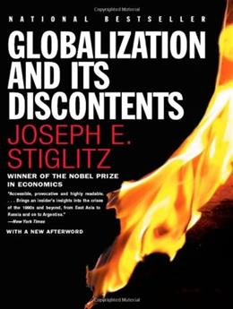Globalization and Its Discontents, by Stiglitz 9780393324396