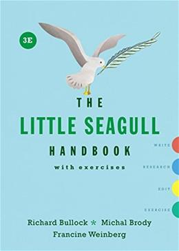 The Little Seagull Handbook with Exercises 3rd Edition 9780393602647